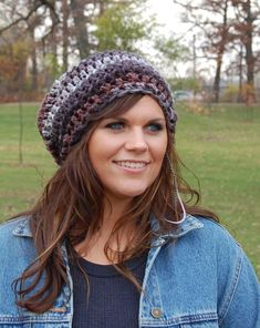 Slouchy Beanie Crochet Hats for Women, Ladies Fashion Hats, Winter Accessories via Etsy