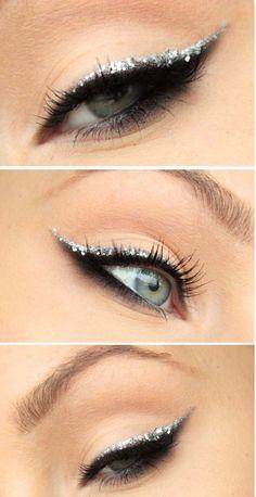Silver eyeliner.