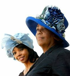 SECOND-GENERATION HAT MAKER, Meeka Robinson-Davis, left, and her mother, Sonja Robinson, operate One-of-a-Kind Hats on Crenshaw Boulevard in Los Angeles.