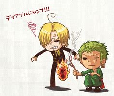 That's how Zoro make good use of Sanji's leg xD