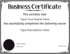 40 best business certificates templates awards images on business certificate award for completion certificatestreet this free template can be friedricerecipe Gallery