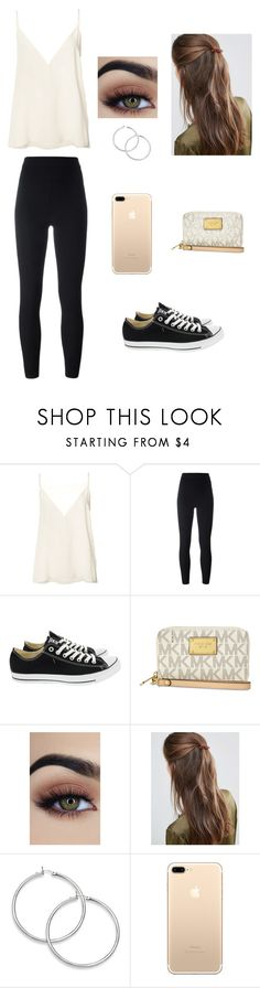"""""""A teens casual outfit"""" by xcharlyntolentino ❤ liked on Polyvore featuring Anine Bing, adidas Originals, Converse, Michael Kors and DesignB London"""