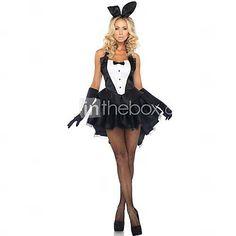 Sexy Bunny Mädchen schwarzen Kleid Frauen Halloween-Kostüm - EUR € 20.62