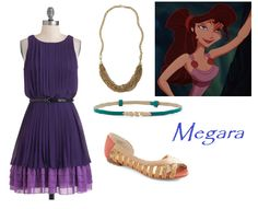 outfit inspired by Disney's Meg from Hercules. All clothes and accessories from ModCloth.com  (created by Abby Kinsey)