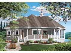 Bungalow House Plan with 1070 Square Feet and 1 Bedroom from Dream Home Source | House Plan Code DHSW66485