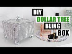 DIY DOLLAR TREE BLING STORAGE BOX DIY Glam Home Decor - YouTube