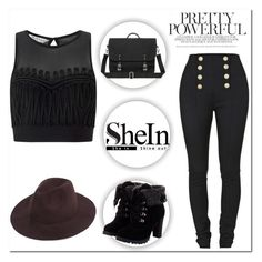 """SHEIN"" by mikica-kiki ❤ liked on Polyvore featuring Balmain and Miss Selfridge"