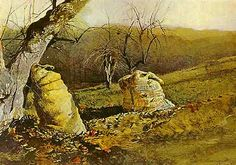 wyeth paintings | Andrew Wyeth (American, 1917-2009) Famous Artists: Watercolor Masters ...