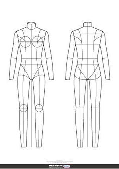 female templates body flats template croquis flat illustration figures sketch figure sketches technical drawing etsy