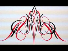 how to make symetrical pinstriping designs Part 5 - YouTube