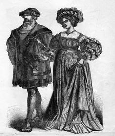 Renaissance Costumes, 16th Century. German citizen.