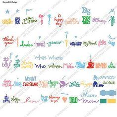 Cricut® BEYOND BIRTHDAYS Cartridge (phrases)