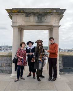 Pilgrim and Captain Jack Sparrow in #plymouth