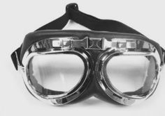 TMS WWII RAF Aviator Pilot Motorcycle Half helmet Goggles Soft padded Chrome Frame with ADJUSTABLE headband, Split design, light weight, optical quality plastic lenses are scratch resistant. Ideal fit with half or open face helmets. Half Helmets, Open Face Helmets, Ducati, Yamaha, Motocross, Jasper Jordan, Imperator Furiosa, Motorcycle Goggles, Cruiser Motorcycle