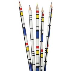 Chronicle Books Mondrian Colored Pencils By found on Polyvore featuring home, home decor, office accessories, stationery and window boxes