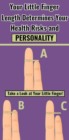 Your Little Finger Length Determines Your Health Risks and P.- Your Little Finger Length Determines Your Health Risks and Personality Your Little Finger Length Determines Your Health Risks and Personality - Health And Nutrition, Health And Wellness, Health Tips, Health Fitness, Health Benefits, Health Facts, Holistic Wellness, Health Goals, Nutrition Education