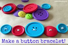 Here are over 20 simple, yet fun button crafts that children can do!