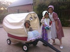 Radio flyer into a covered wagon