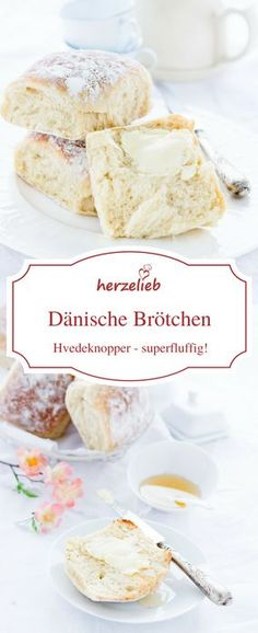 Brot, Brötchen Rezepte: Rezept für dänische Hefe-Brötchen.