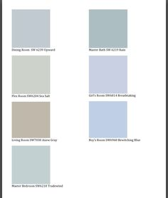 Sherwin Williams Paint - tradewind and sea salt look nice