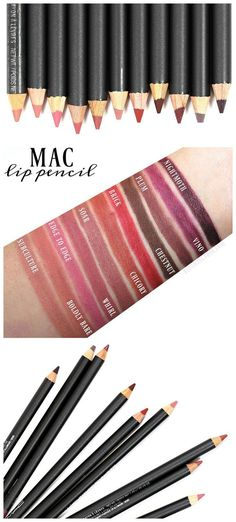 MAC Lip Pencil Swatches + Review
