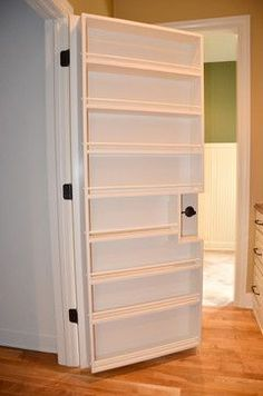 Maximize pantry space with this custom door storage unit.
