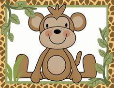JUNGLE ANIMALS ZEBRA MONKEY ELEPHANT NURSERY BABY WALL STICKERS DECALS