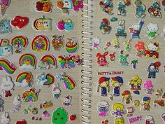 Stickers! I wonder if my parents still have my old collection of sticker books?  I had so many! Cherished each and every sticker!