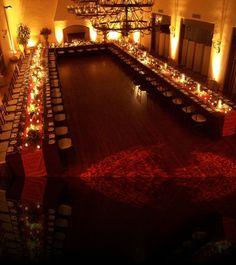 LOVE this set up for wedding reception... so everyone can sit together and watch the dancing!