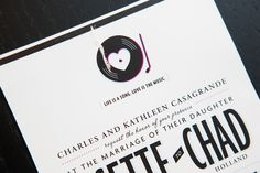 Love this couple's quote on their wedding invitations.