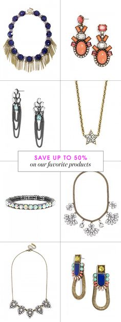 Add a shot of sparkle to your outfit! Shop our sale items at BaubleBar.com!