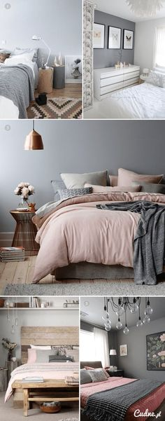 grey bedroom colors. grey, blush, and copper bedroom. grey bedroom colors o