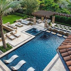 Having a pool sounds awesome especially if you are working with the best backyard pool landscaping ideas there is. How you design a proper backyard with a pool matters. Backyard Pool Landscaping, Backyard Patio Designs, Modern Backyard, Swimming Pools Backyard, Swimming Pool Designs, Landscaping Ideas, Acreage Landscaping, Backyard Layout, Swiming Pool