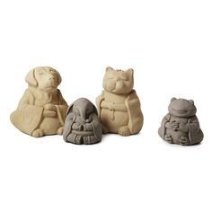 These meditative sealed cement sculptures bring peace, humor, and the art of Zen to off-kilter spaces.