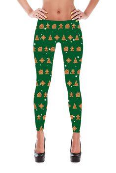 Gingerbread Man Leggings - Christmas Leggings - Christmas Tree Leggings - Yoga Leggings - Winter Leggings - Christmas Gift - Gifts