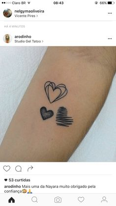 Top Heart and scribble - Top Heart and scribble You are in the right place about Top Heart and scribble Tattoo Design And St - Subtle Tattoos, Pretty Tattoos, Beautiful Tattoos, Small Tattoos, Tattoos For Daughters, Sister Tattoos, Friend Tattoos, Herz Tattoo, Tattoo Feminina
