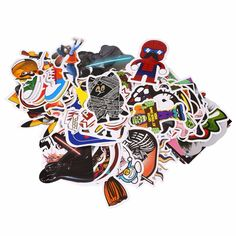 100Pcs PVC Mixed Stickers Motocross Motorcycle Motorbike Bike Car Skateboard Snowboard Helmet Decal Luggage Laptop Stickers