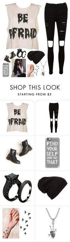 """""""Untitled #1760"""" by tokyoghoul1 ❤ liked on Polyvore featuring Dr. Martens and Casetify"""