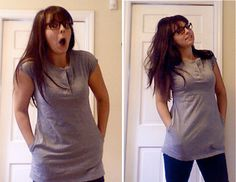 :: armelle blog ::: guest post: rachel from playing house ...refashioned t-shirt with pockets