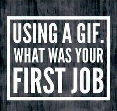 Tell me what was your first job using a gif. Facebook Group Games, Facebook Party, For Facebook, Facebook Quotes, Facebook Questions, Poll Questions, This Or That Questions, Facebook Engagement Posts, Social Media Engagement