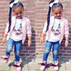 Everything from pony puffs to decorated cornrow looks to braided hair style Cute Kids Fashion, Little Girl Fashion, Toddler Fashion, Toddler Girl Style, Toddler Girls, Cute Hairstyles For Kids, Little Girl Hairstyles, Toddler Hairstyles, Trendy Hairstyles