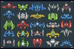 Buy Spaceship Creation Kit For UI Graphic Assets Alien Concept Art, Star Wars Concept Art, Spaceship Design, Spaceship Concept, Game Design, Pixel Art Background, Kit Games, Pixel Animation, Space Games