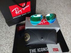 Authentic Ray Ban Aviator 3025 Green 58mm 100% UV