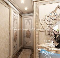 Дизайн интерьера квартиры в стиле Ар-Деко в ЖК Дирижабль. Коридор; Холл