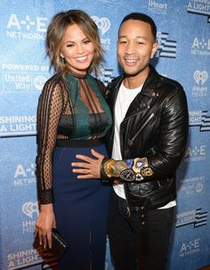 So Cute!: John Legend Rubs Wife Chrissy Teigen's Baby Bump on the Red Carpet—See the Pic!