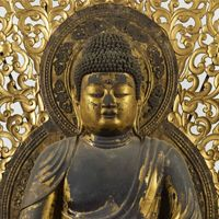 国宝 阿弥陀如来坐像 平安時代・仁和4年(888) 京都・仁和寺蔵 Buddha, Statue, Sculptures, Sculpture