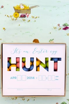 easter egg hunt invitations are my fave - You Are My Fave