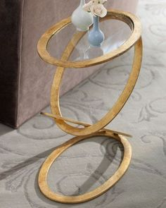 Gilded Ring Table at Neiman Marcus. $549