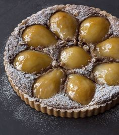 Poached pear and Walnut tart by Nick Malgeri