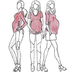 Cara Maternity tshirt sewing pattern